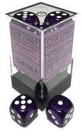 Dobbelsteen Translucent Purple/White - D6 - 16mm