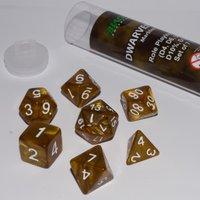 Dobbelstenen Dwarven Gold Polydice (7 stuks)