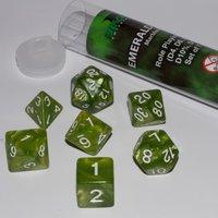 Dobbelstenen Emerald Green Polydice (7 stuks)