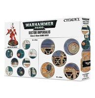 Warhammer 40,000 - Sector Imperialis (25 & 40mm Round Bases - 60 stuks)