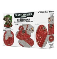 Warhammer 40,000 - Sector Imperialis (60mm Round Bases + 75 & 90mm Oval Bases - 60 stuks)