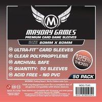 Mayday Card Sleeves (Premium): Square Card Sleeves (80x80mm) - 50 stuks