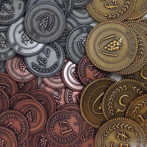 Viticulture: Metal Lira Coins