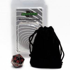 D20 Metal Spindown with Velvet Bag (Black)