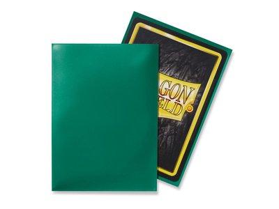 Dragon Shield Card Sleeves: Standard Green (63x88mm)