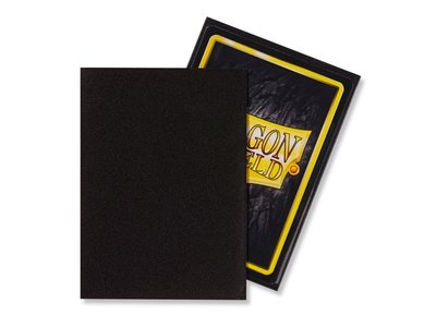 Dragon Shield Card Sleeves: Standard Matte Black (63x88mm)
