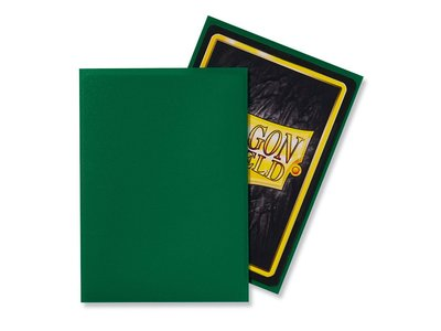 Dragon Shield Card Sleeves: Standard Matte Green (63x88mm)