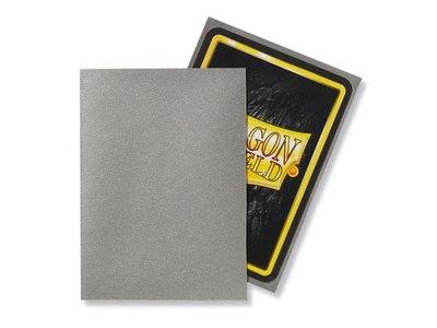 Dragon Shield Card Sleeves: Standard Matte Silver (63x88mm)