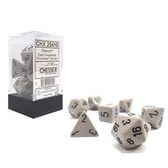 Dobbelstenen Opaque Grey/Black Polydice (7 stuks)