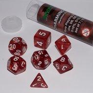 Dobbelstenen Charming Red Polydice (7 stuks)